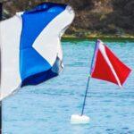 Bandera submarinismo de buceo