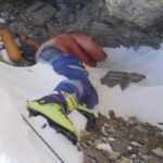 Botas verdes de alpinismo