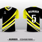 Camisetas amarilla de futbol