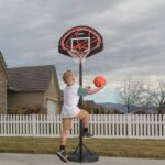 Canastas con pie de baloncesto