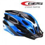 Cascos azul de ciclismo