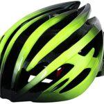 Cascos verde de ciclismo
