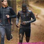 Invierno hombre de running