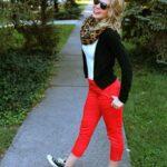 Pantalones rojo de tenis