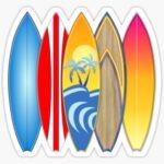 Tablas pegatina para tablas de surf de surf