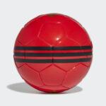 Balones rojo de futbol