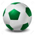 Balones verde de futbol