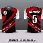 Camisetas roja y negra de futbol