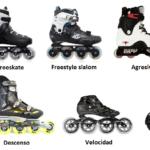 Patines freeskate de patinaje en linea