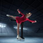 Sobre hielo de patinaje