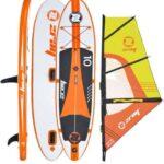 Tablas hinchables con vela de paddle surf
