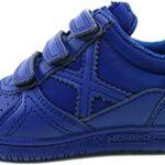 Zapatillas niño azul de futbol-sala